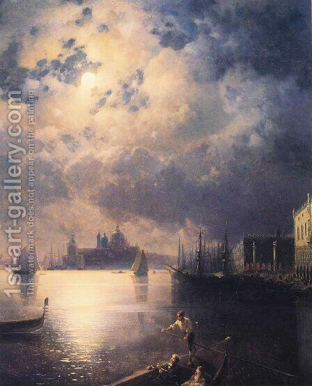 Byron in Venice by Ivan Konstantinovich Aivazovsky - Reproduction Oil Painting
