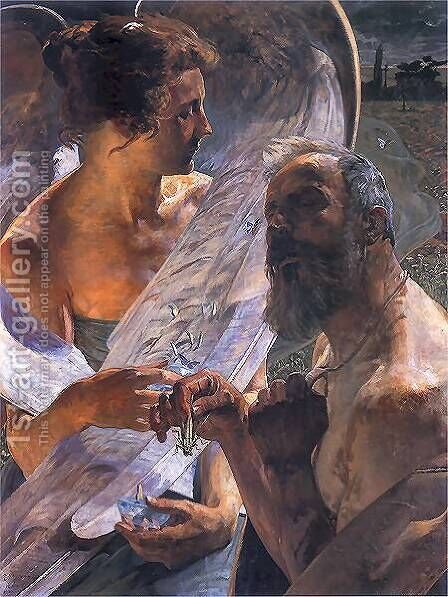The resurrection (immortality) by Jacek Malczewski - Reproduction Oil Painting