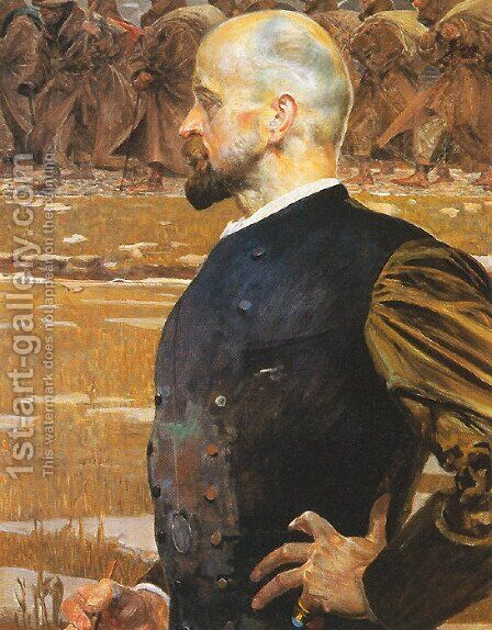 The Tribute Money (triptych) right by Jacek Malczewski - Reproduction Oil Painting