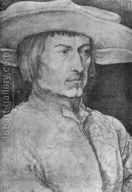 Portrait of a Man 7 by Albrecht Durer - Reproduction Oil Painting
