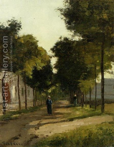 The road 2 by Camille Pissarro - Reproduction Oil Painting
