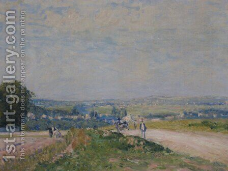 The Road to Louveciennes Montbuisson 2 by Alfred Sisley - Reproduction Oil Painting