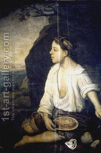 Child sitting by Bartolome Esteban Murillo - Reproduction Oil Painting
