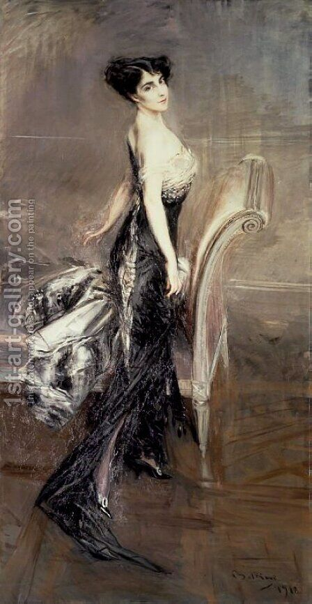 Portrait of a Lady 3 by Giovanni Boldini - Reproduction Oil Painting