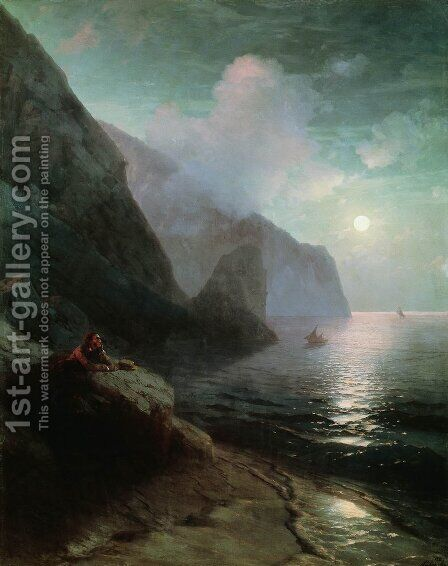Pushkin in Gurzuf by Ivan Konstantinovich Aivazovsky - Reproduction Oil Painting