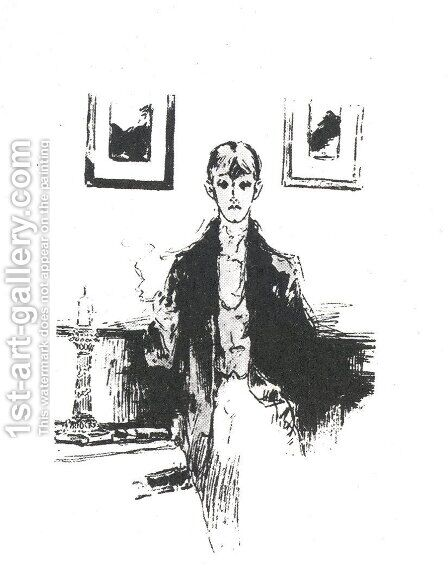 Self-portait 3 by Aubrey Vincent Beardsley - Reproduction Oil Painting