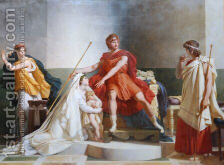 Andromache and Pyrrhus by Baron Pierre-Narcisse Guerin - Reproduction Oil Painting