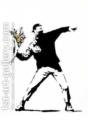 Rage, Flower Thrower by Banksy - Reproduction Oil Painting