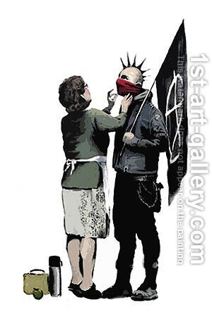 Anarchist And Mother by Banksy - Reproduction Oil Painting
