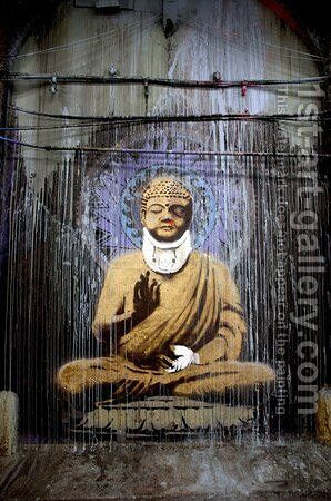 Injured Buddha by Banksy - Reproduction Oil Painting