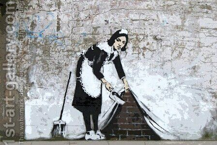 Maid in London by Banksy - Reproduction Oil Painting