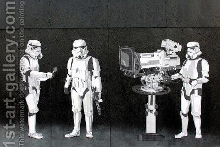 Stormtroopers Filming Oscars by Banksy - Reproduction Oil Painting