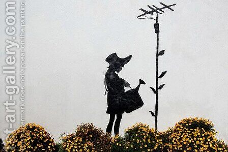 Flower Aerial by Banksy - Reproduction Oil Painting
