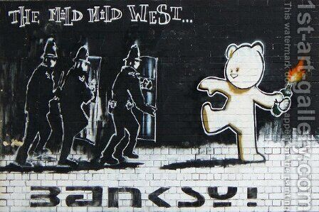 Mild Mild West by Banksy - Reproduction Oil Painting