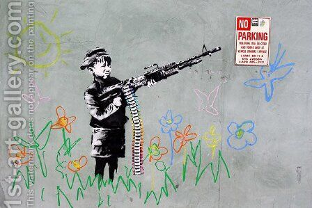 Boy with Gun by Banksy - Reproduction Oil Painting