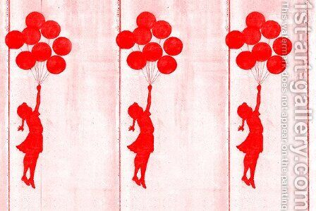 Balloon Girl Flying II  by Banksy - Reproduction Oil Painting