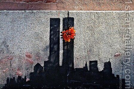 Twin Towers Tribute by Banksy - Reproduction Oil Painting