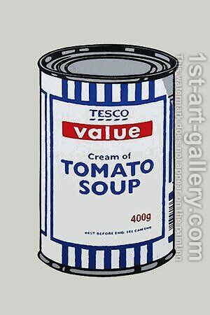 Tesco Tomato Soup Can by Banksy - Reproduction Oil Painting