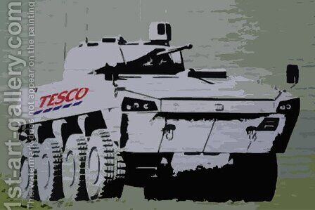 Tesco Tank by Banksy - Reproduction Oil Painting