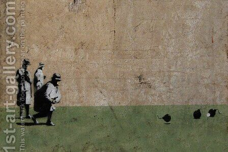 Bombing Middle England by Banksy - Reproduction Oil Painting