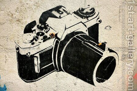 Camera Graffiti by Banksy - Reproduction Oil Painting