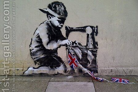 Sew England II by Banksy - Reproduction Oil Painting