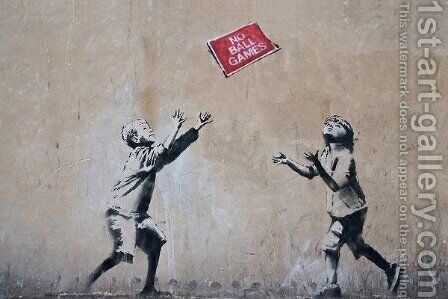 No Ball Games by Banksy - Reproduction Oil Painting
