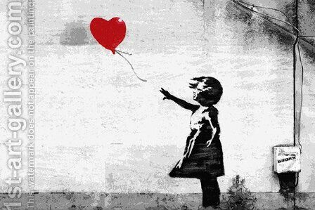 Girl with a Balloon by Banksy - Reproduction Oil Painting