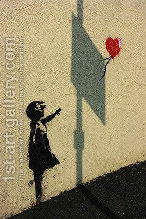 Hopeful Balloon Girl by Banksy - Reproduction Oil Painting