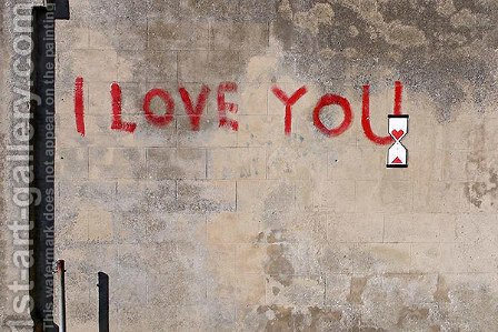 I Love You by Banksy - Reproduction Oil Painting