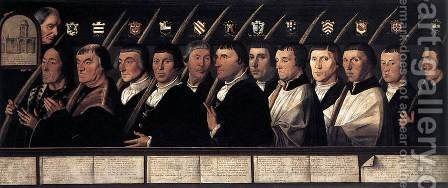 12 Members of the Haarlem Brotherhood of Jerusalem Pilgrims 1528-29 by Jan Van Scorel - Reproduction Oil Painting
