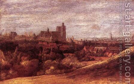 View of Brussels from the North-East c. 1625 by Hercules Seghers - Reproduction Oil Painting