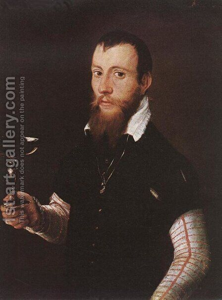 Portrait of Wilhelm Neythart 1565 by Jacob Seisenegger - Reproduction Oil Painting