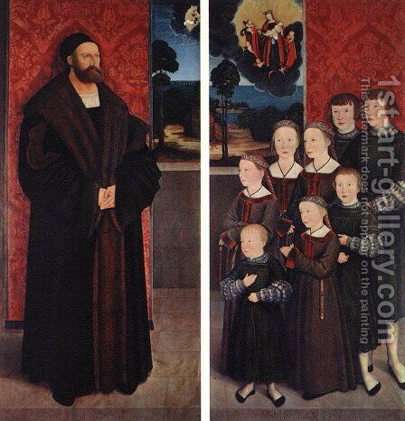 Portrait of Conrad Rehlinger and his Children 1517 by Bernhard Strigel - Reproduction Oil Painting