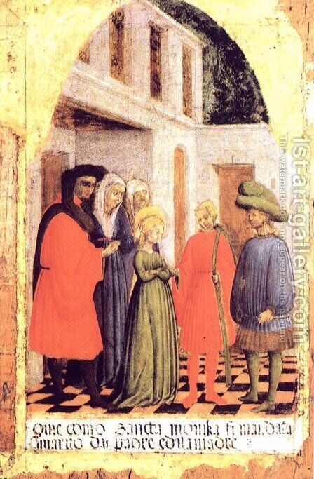 Marriage of St. Monica 1441 by Antonio Vivarini - Reproduction Oil Painting
