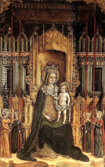 Triptych (detail-2) 1446 by Antonio Vivarini - Reproduction Oil Painting