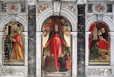 Triptych 1473 by Bartolomeo Vivarini - Reproduction Oil Painting