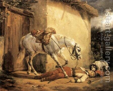 The Wounded Trumpeter 1819 by Horace Vernet - Reproduction Oil Painting