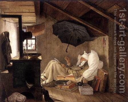 The Poor Poet 1835 by Carl Spitzweg - Reproduction Oil Painting