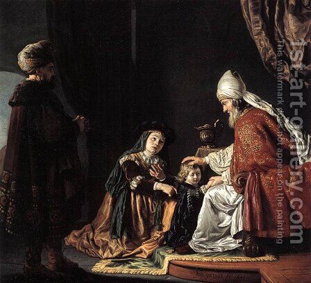 Hannah Giving Her Son Samuel to the Priest 1645 by Jan Victors - Reproduction Oil Painting