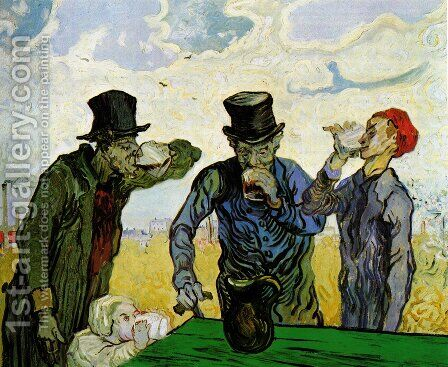 The Drinkers by Vincent Van Gogh - Reproduction Oil Painting