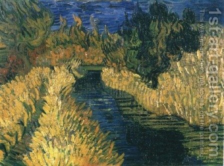 The Little Stream by Vincent Van Gogh - Reproduction Oil Painting