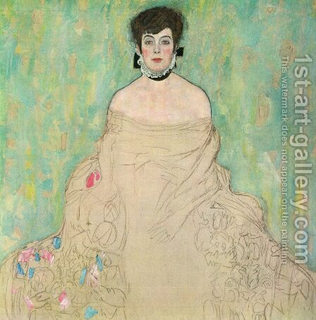 Portrait Of Amalie Zuckerkandl (unfinished) by Gustav Klimt - Reproduction Oil Painting