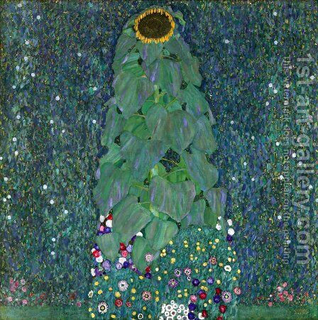 Sunflower by Gustav Klimt - Reproduction Oil Painting