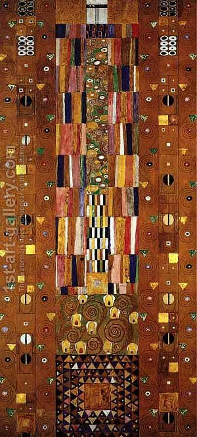 Stocletfrieze by Gustav Klimt - Reproduction Oil Painting
