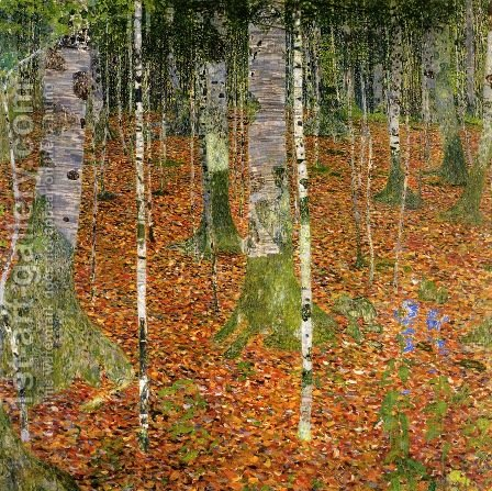 Birch Forest by Gustav Klimt - Reproduction Oil Painting