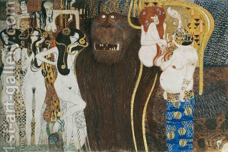 The Hostile Powers by Gustav Klimt - Reproduction Oil Painting