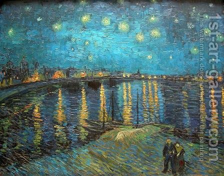 Starry Night Over The Rhone by Vincent Van Gogh - Reproduction Oil Painting
