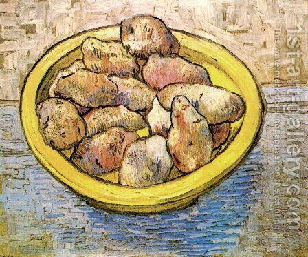 Potatoes In A Yellow Dish by Vincent Van Gogh - Reproduction Oil Painting