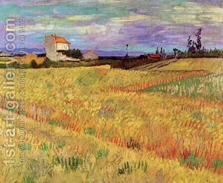 Wheat Field by Vincent Van Gogh - Reproduction Oil Painting